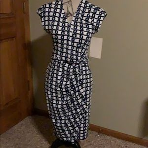 Boston Proper Dresses - NWT Boston Proper wrap dress; navy/white; 4